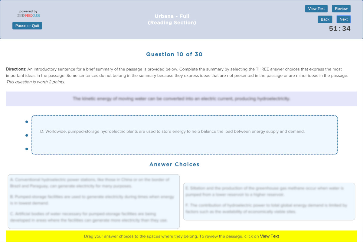 TOEFL Practice Test Reading Section