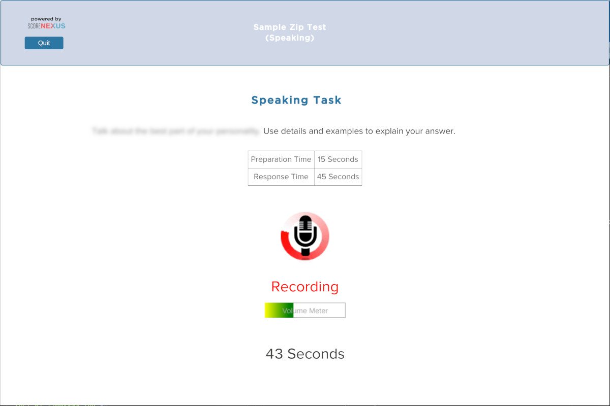 Free TOEFL Practice Test Speaking Section